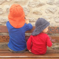 Chapeau de soleil anti-ondes enfant orange